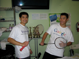 Tony at Yahoo Google badminton tournament