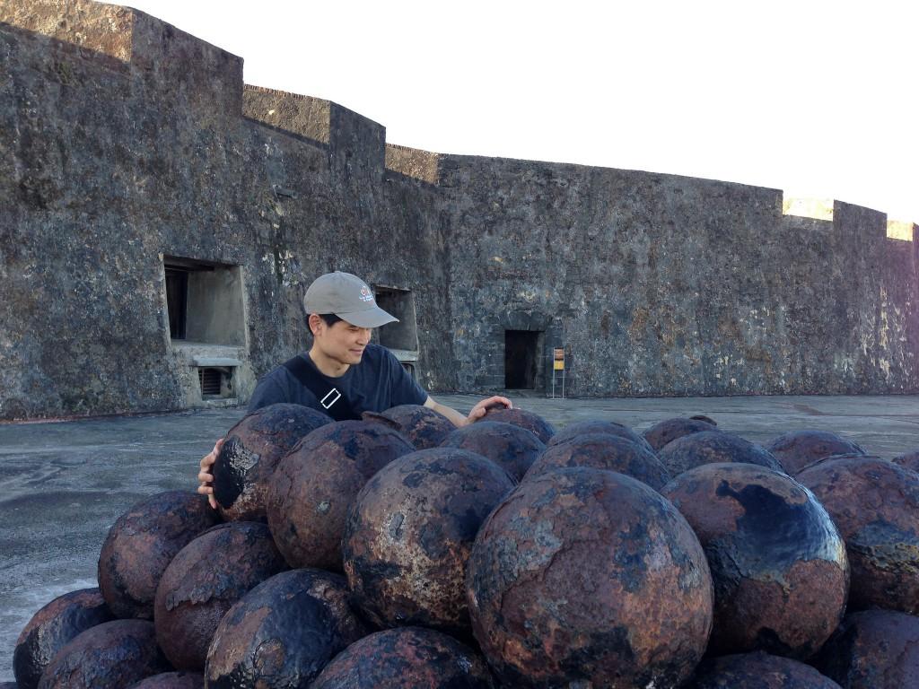 cannon balls in Old San Juan, Puerto Rico