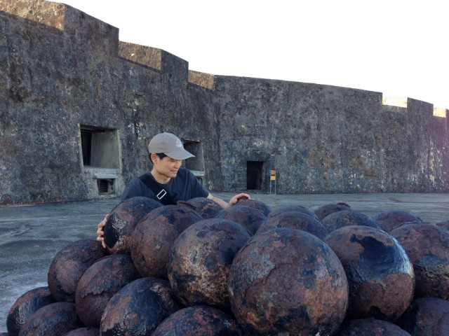 cannon balls in Old San Juan, Puerto Rico